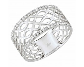 Bague oxydes de zirconium or gris Lore - S14.05104