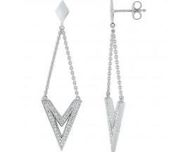 Boucles d'oreilles pendants argent oxydes EOL Paris - ASWA261Z