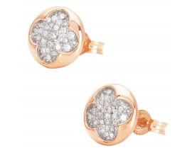 Boucles d'oreilles boutons or et diamants - 2.406.34