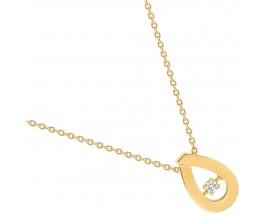 Collier plaqué or et oxydes - S10.55118