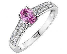 Bague or saphir rose et diamant(s) Pfertzel - 3467815