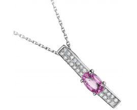 Collier or saphir rose et diamant(s) Pfertzel - 7204115