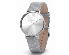 Montre ICE City Sparkling Glitter Silver Small (36mm) Ice-Watch - 015086