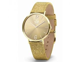 Montre ICE City Sparkling Glitter Gold Small (36mm) Ice-Watch - 015087