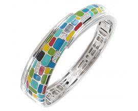 Bracelet jonc argent et oxydes Una Storia - JO121171