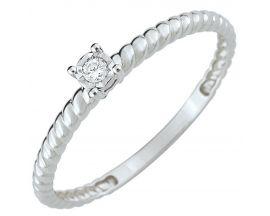 Bague solitaire or et diamant - S12.00101