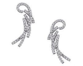Boucles d'oreilles boutons argent oxydes GL Paris-Altesse - 70298601108000