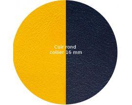 Cuir collier Les Georgettes - Sun/Marine 16 mm