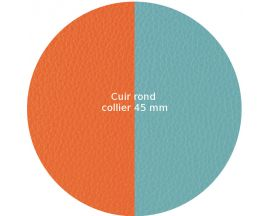 Cuir collier Les Georgettes - Lilium/Nimbus 45 mm