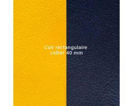 Cuir collier Les Georgettes - Sun/Marine 40 mm