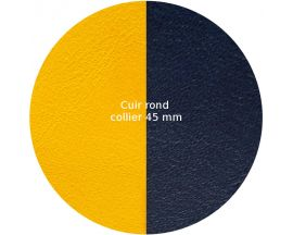 Cuir collier Les Georgettes - Sun/Marine 45 mm