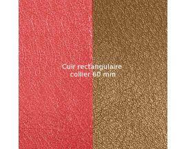 Cuir collier Les Georgettes - Rouge orangé/Brun rosé 60 mm