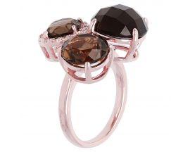 Bague plaqué or rose et quartz smoky Bronzallure - WSBZ00197.S