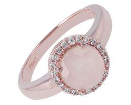 Bague plaqué or rose et quartz rose Bronzallure - WSBZ00352.R
