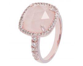Bague plaqué or rose et quartz rose Bronzallure - WSBZ00500.R
