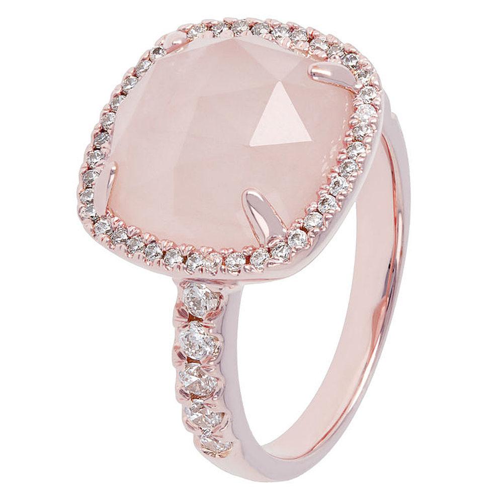 Bague plaqué or rose et quartz rose Bronzallure - WSBZ00500.R ...