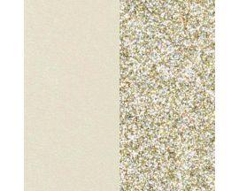 Cuir bracelet Les Georgettes - Crème/Paillettes dorées 40 mm