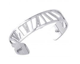 Bracelet manchette Les Georgettes - Perroquet argenté 14 mm