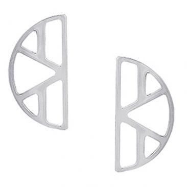 Boucles d'oreilles Les Georgettes - Ibiza argenté 30 mm
