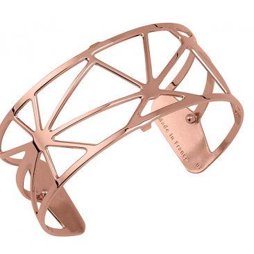 Bracelet manchette Les Georgettes - Solaire rosé 25 mm