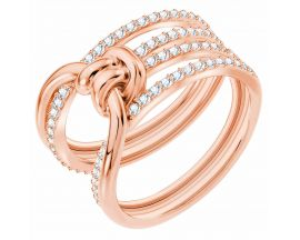Bague Swarovski - Lifelong Ring Wide CRY/ROS