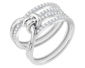Bague Swarovski - Lifelong Ring Wide CRY/RHS