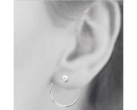Boucles d'oreilles boutons argent oxydes Stepec - BUOXJBP