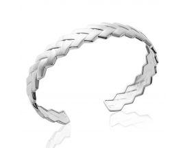 Bracelet jonc argent Stepec - SIBUTPUT