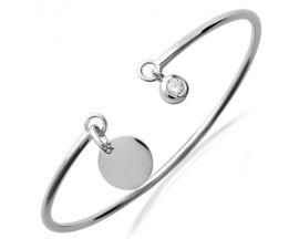 Bracelet jonc argent oxydes Stepec - TSBEBXUX