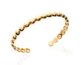 Bracelet jonc plaqué or Stepec - EIBUIPUT