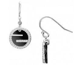 Boucles d'oreilles pendants argent & céramique Ceranity - 1-42-0116-N