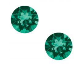 Boucles d'oreilles boutons Indicolite - PU-RON6-205