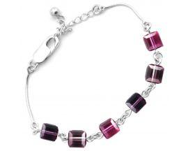 Bracelet argent Indicolite - BR-CUBE-204
