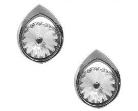 Boucles d'oreilles boutons argent Indicolite - BOPU-ROSE-001