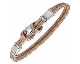Bracelet acier & cordon Jourdan - FZ289SA
