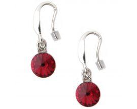 Boucles d'oreilles pendants argent Indicolite - BOCR-EMI-208