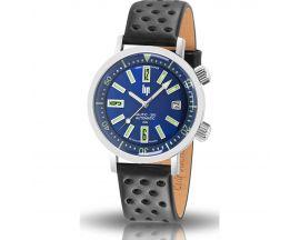 Montre homme Lip nautic ski automatique bleue saphir - 671506