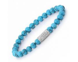 Bracelet perles Rebel & Rose Turquoise Delight 6 mm - RR-60015-S