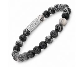Bracelet perles Rebel & Rose Black Wolf 8 mm - RR-80032-S
