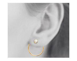 Boucles d'oreilles boutons plaqué or oxydes Stepec - IUOXJBP