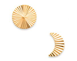 Boucles d'oreilles plaqué or boutons Stepec - IUOEJPP