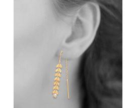 Boucles d'oreilles pendants plaqué or oxydes Stepec - IUUPXBP