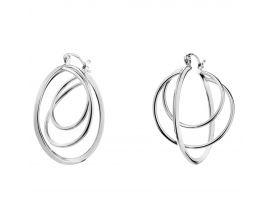 Boucles d'oreilles créoles acier Elixa - EL128-8248 BO