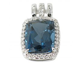 Pendentif or topaze blue london & diamants Gringoire - LT 3095 TB LOND/BTS