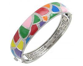 Bracelet rigide argent oxydes Una Storia - JO121177