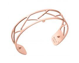 Bracelet manchette Les Georgettes - Tresse rosé 14 mm