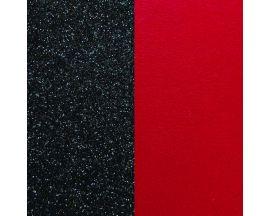 Cuir bracelet Les Georgettes - Paillettes noires/Rouge 40 mm
