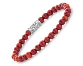 Bracelet perles Rebel & Rose Red Delight 6 mm - RR-60028-S