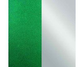 Cuir bracelet Les Georgettes - Vert/Gris vernis 25 mm