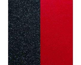Cuir bracelet Les Georgettes - Paillettes noir/Rouge 8 mm